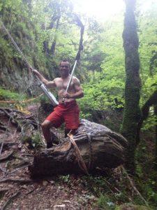 Débardage dans le canyon d'Angon