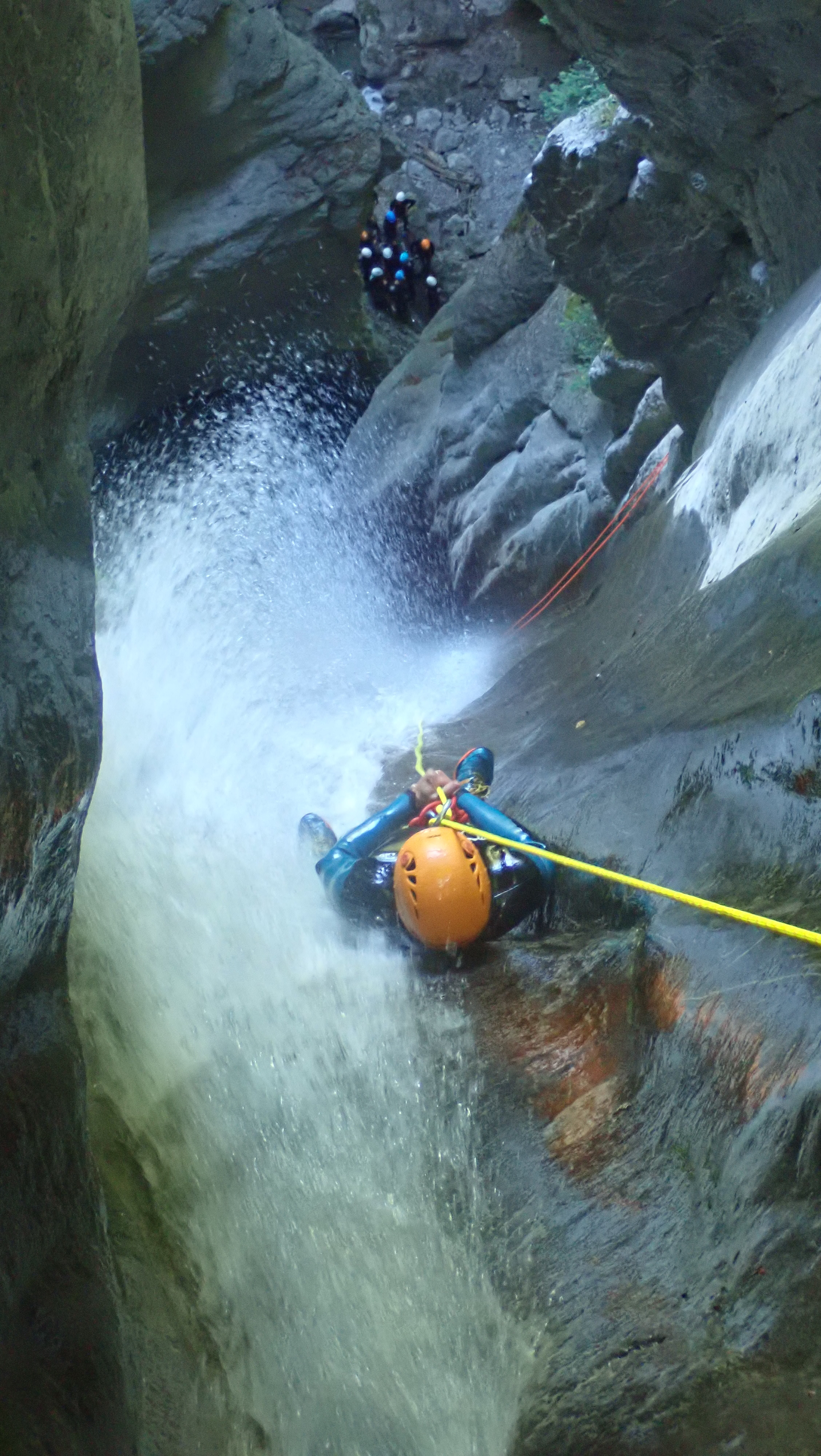 canyoning, annecy, angon, cascade d'Angon